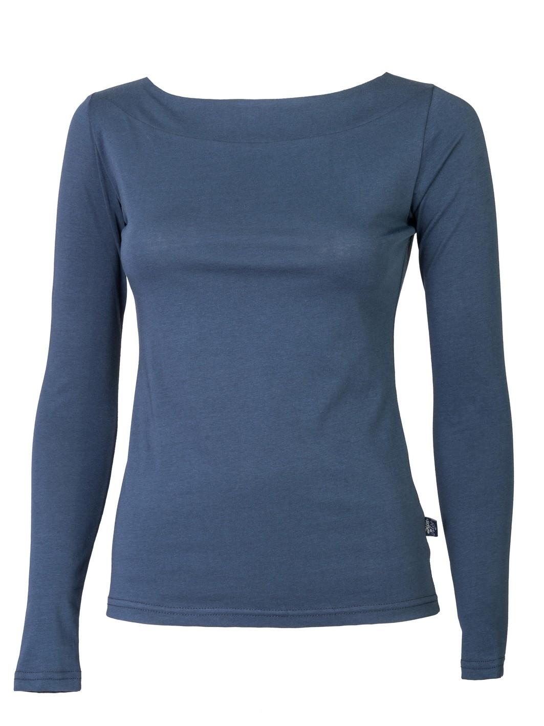 ženska majica dugi rukav teget