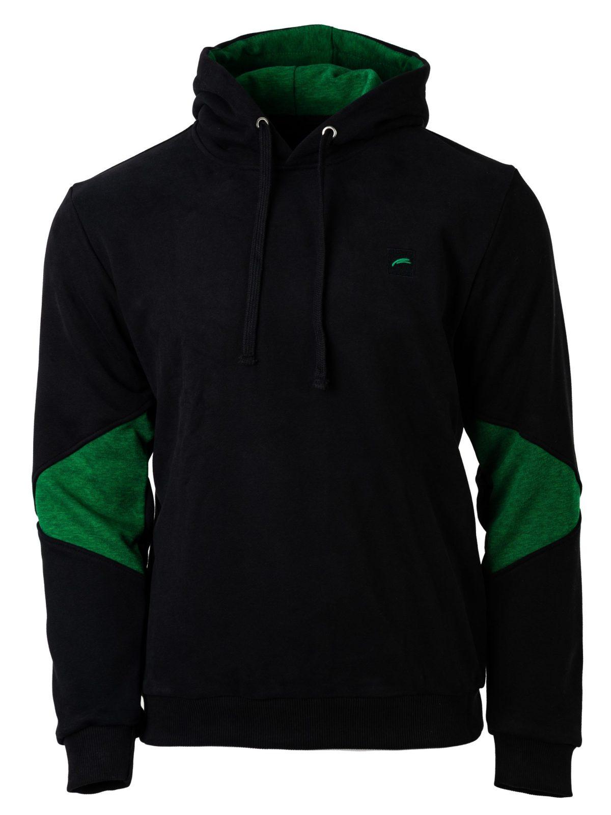 muški duks crno zeleni