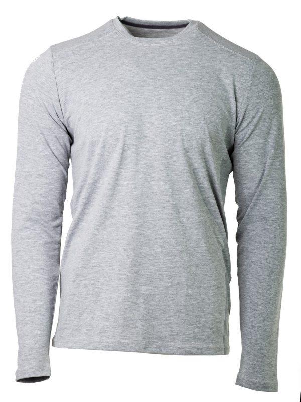 muška majica dugi rukav siva