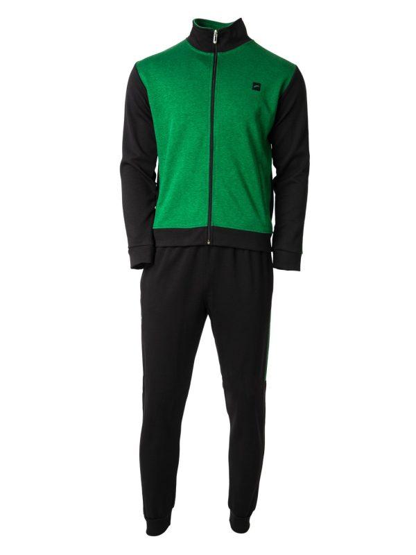 muška trenerka crno zelena