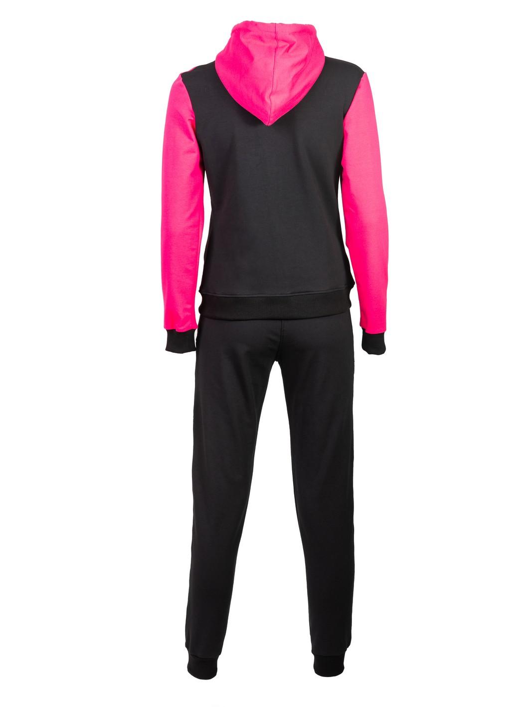 ženska trenerka crno ciklama