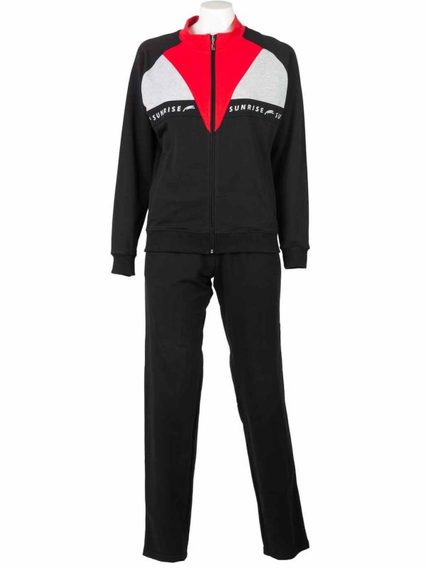 ženska trenerka crno crvena