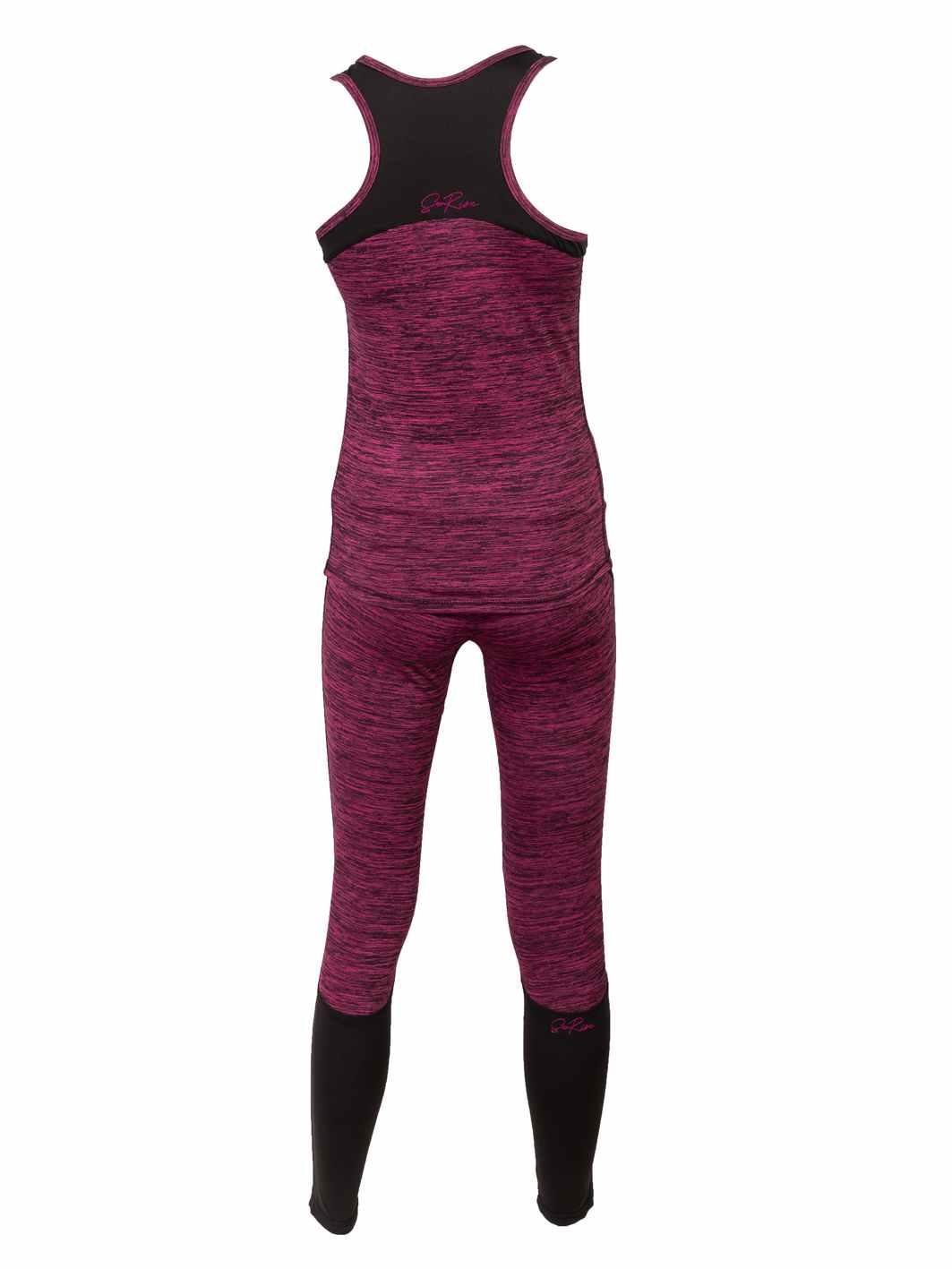 ženski fitnes komplet melirano rozi