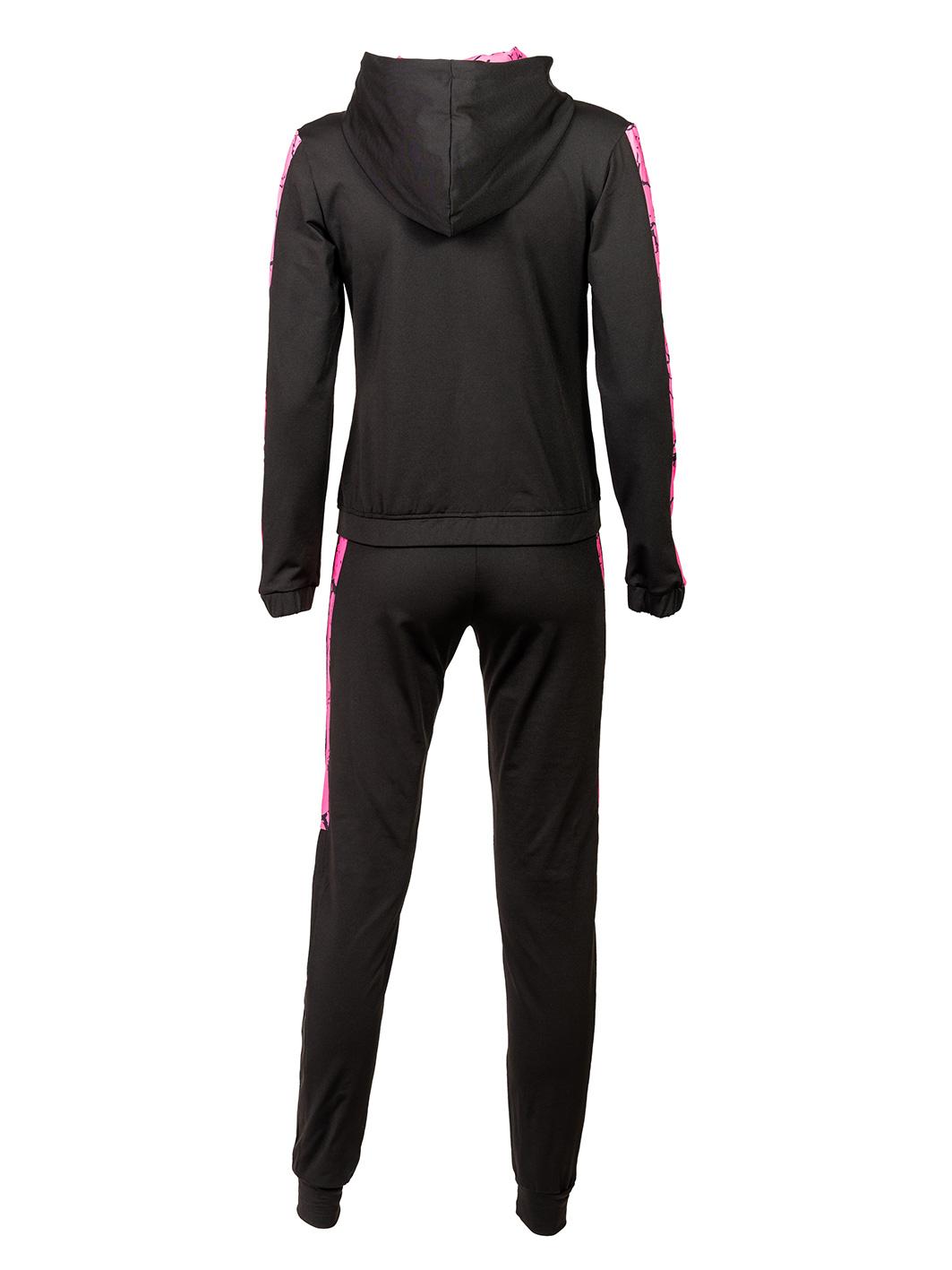 ženska trenerka crno roza