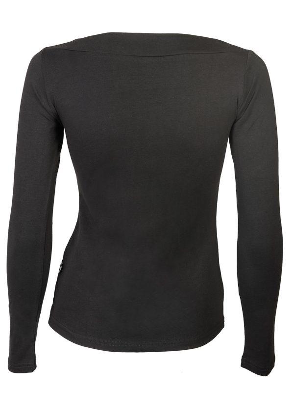 ženska majica dugi rukav crna
